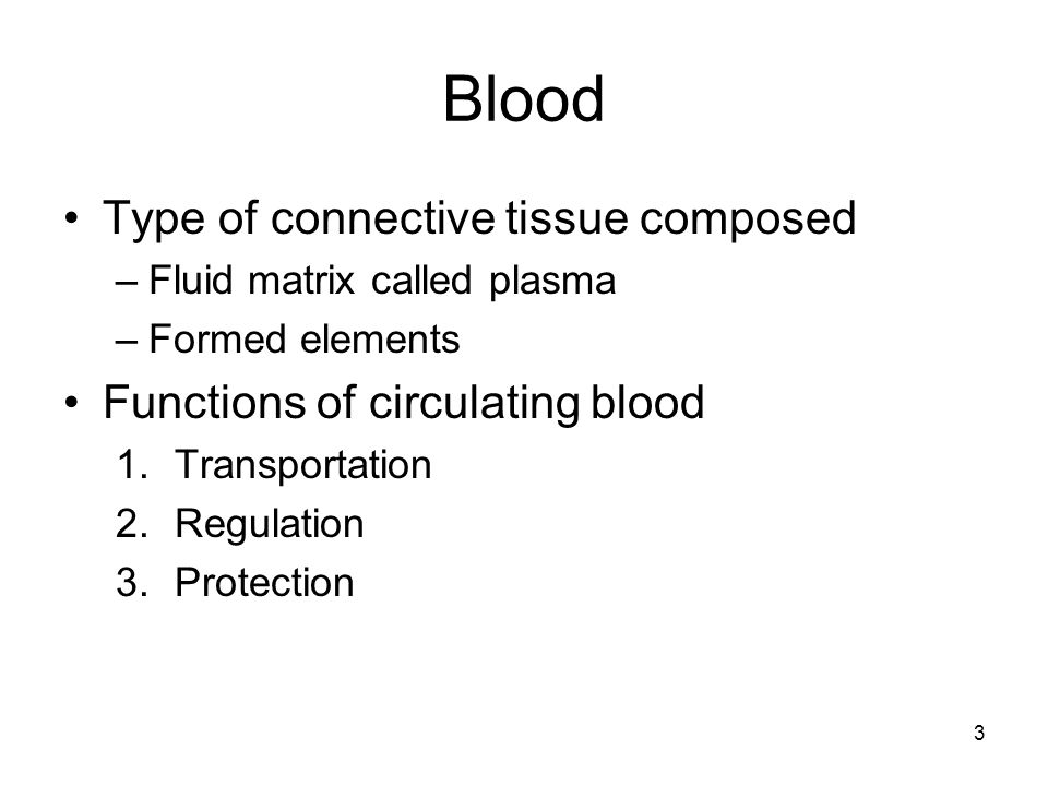 Blood Type of connective tissue composed
