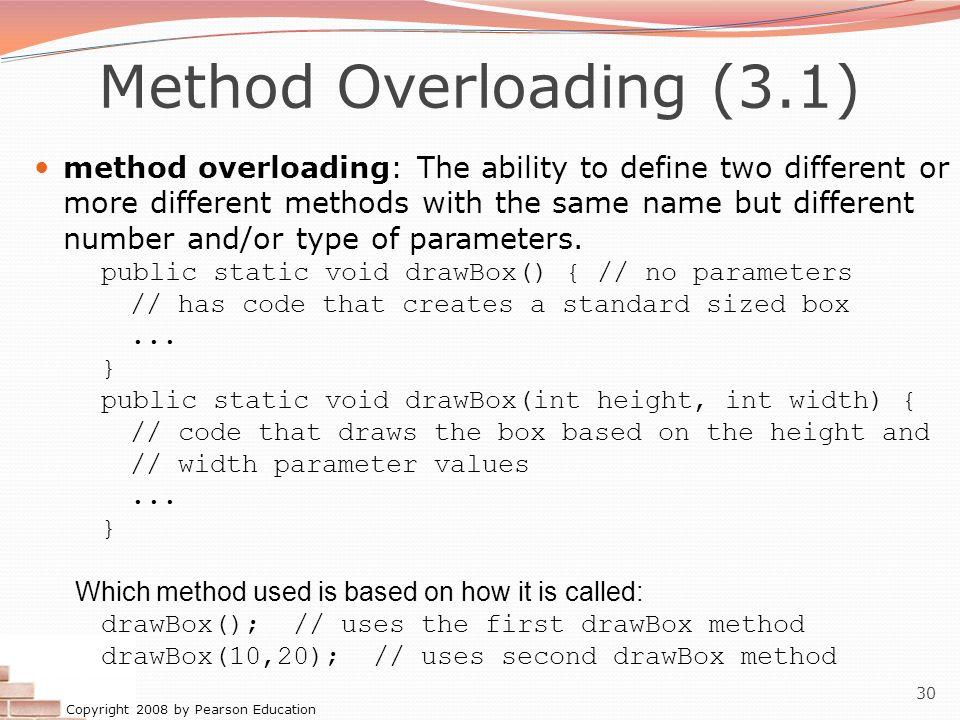 Method Overloading (3.1)