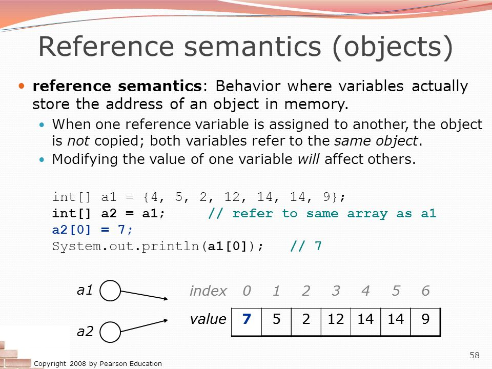 Reference semantics (objects)
