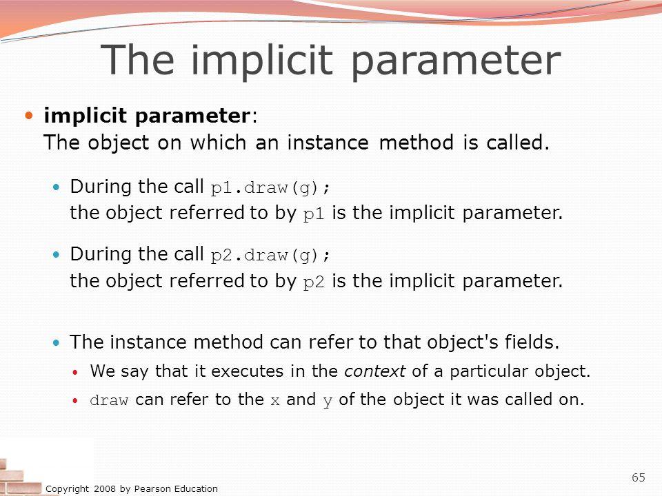The implicit parameter