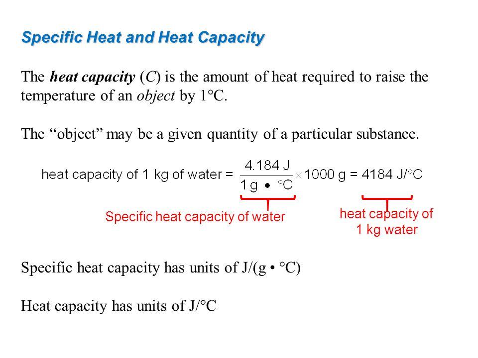 Specific heat capacity of water