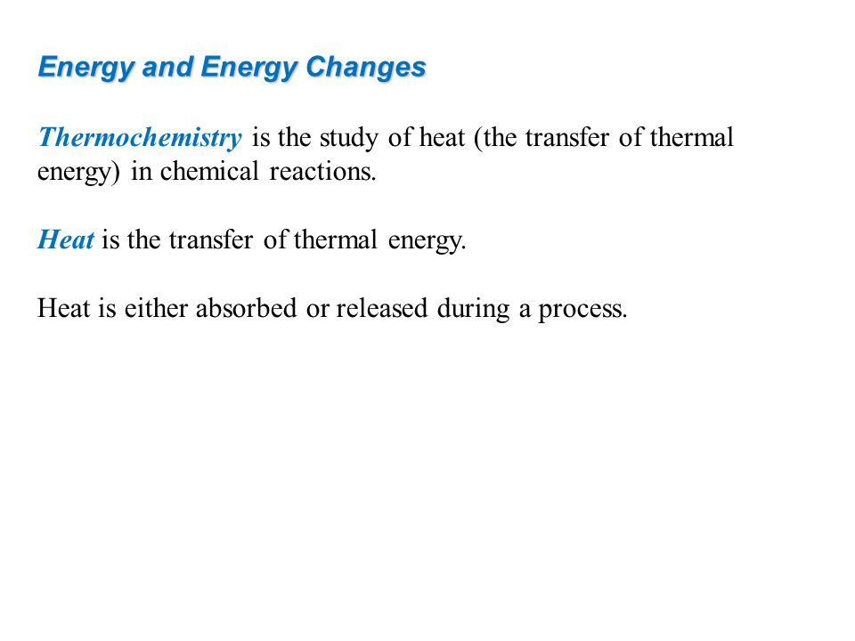 Energy and Energy Changes