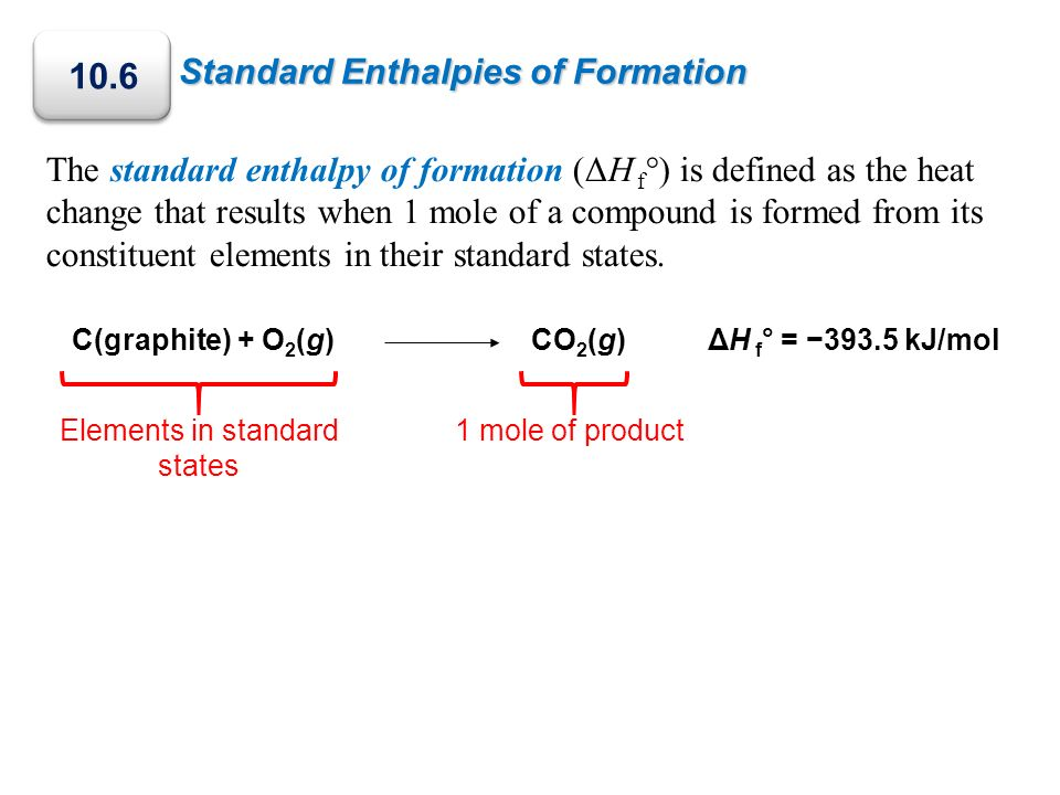 Elements in standard states