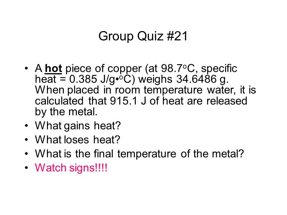 Group Quiz #21