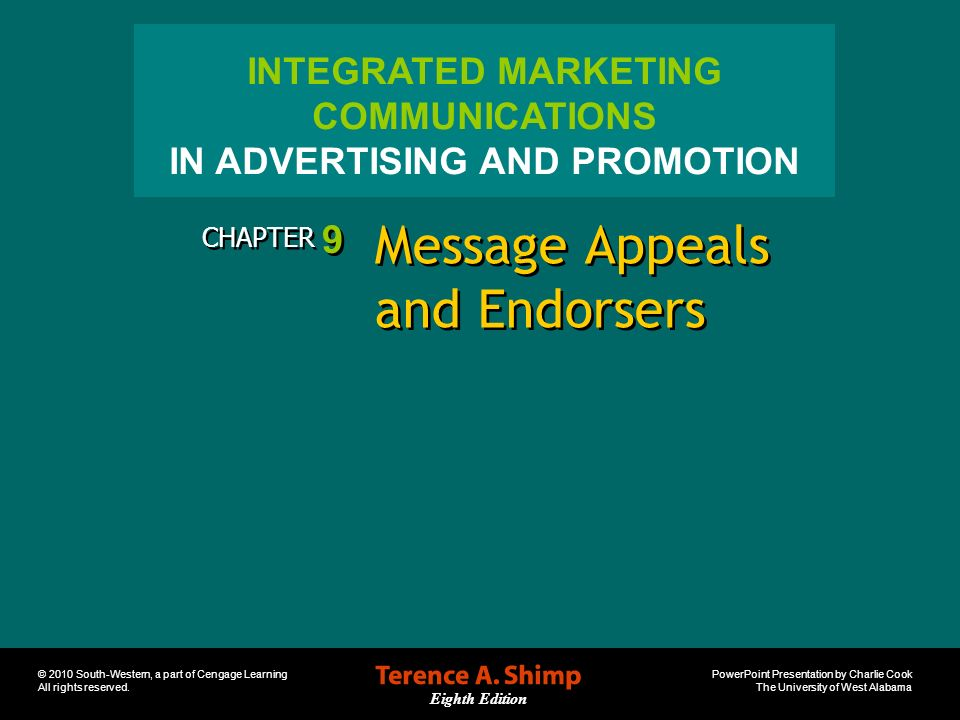 Message Appeals and Endorsers