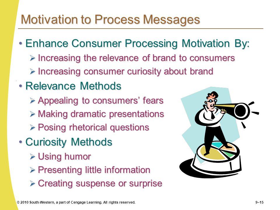 Motivation to Process Messages
