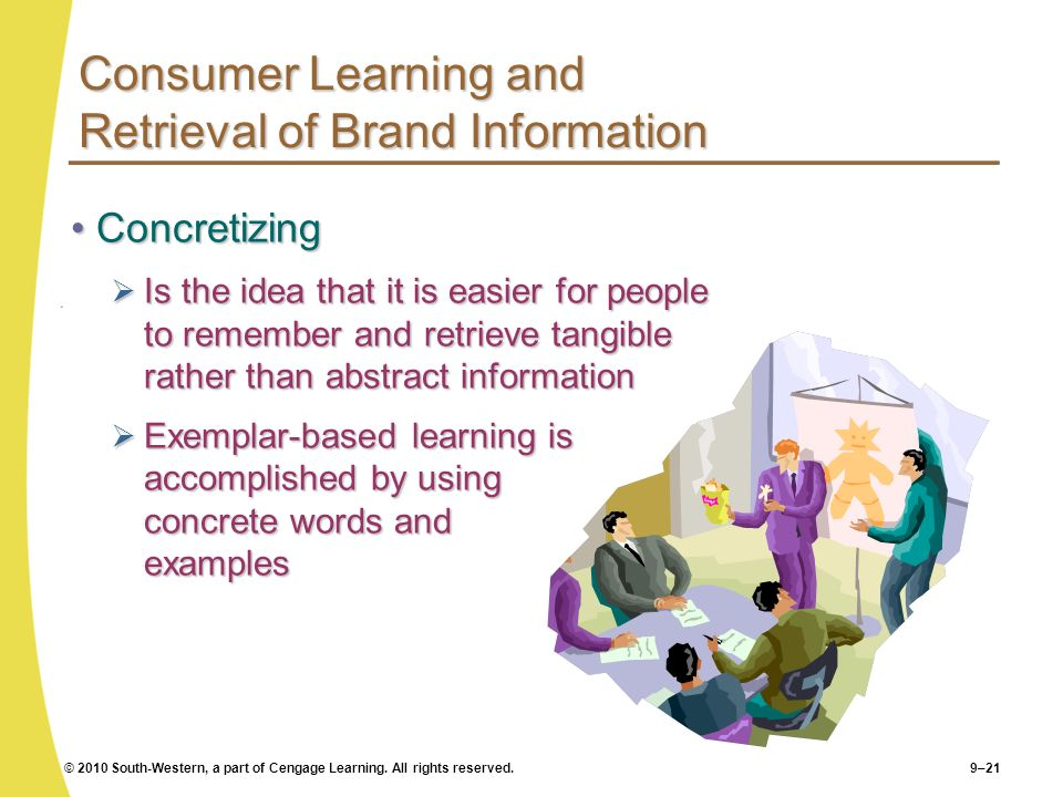 Consumer Learning and Retrieval of Brand Information