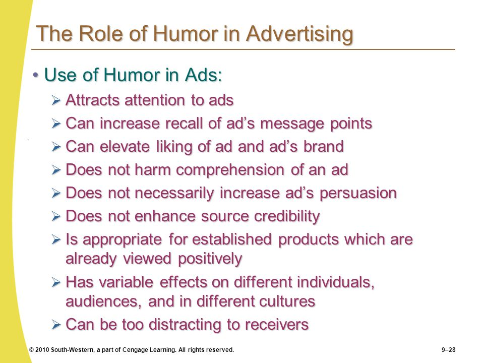The Role of Humor in Advertising