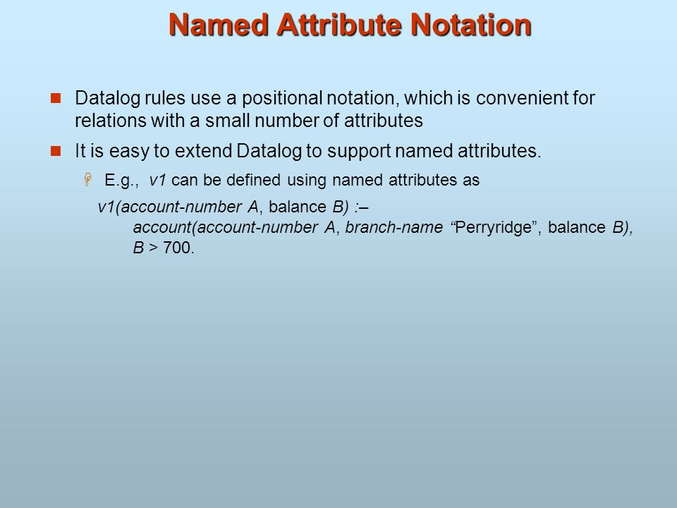 Named Attribute Notation