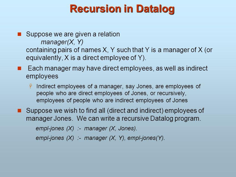 Recursion in Datalog