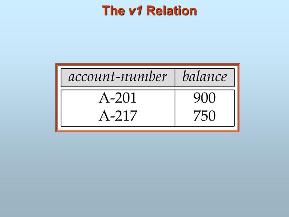 The v1 Relation