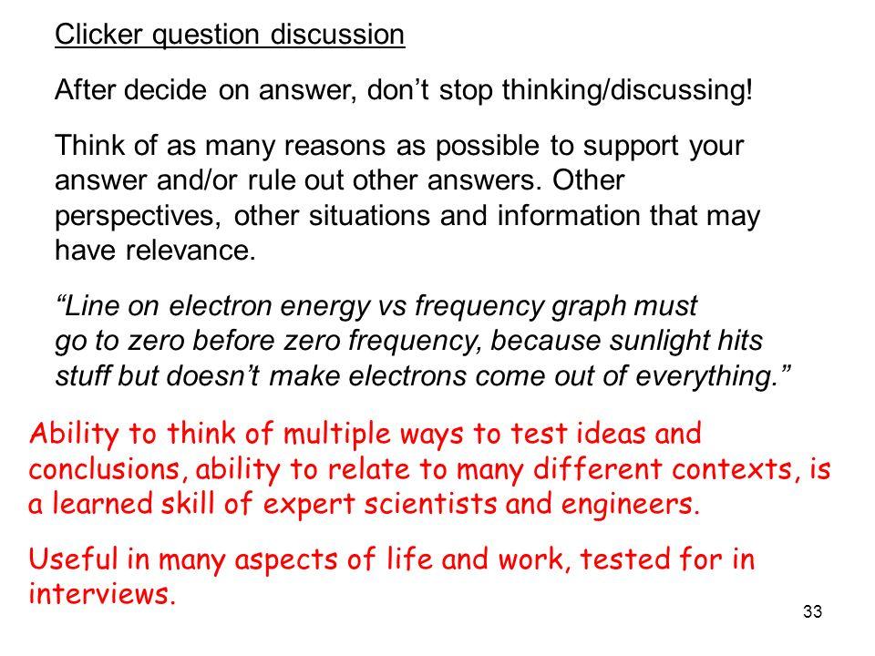 Clicker question discussion