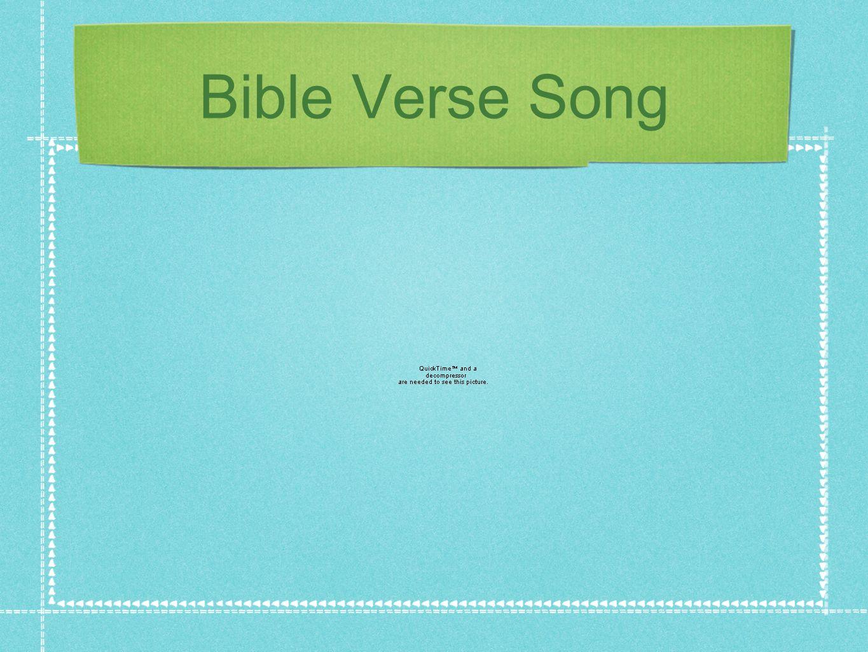 Bible Verse Song