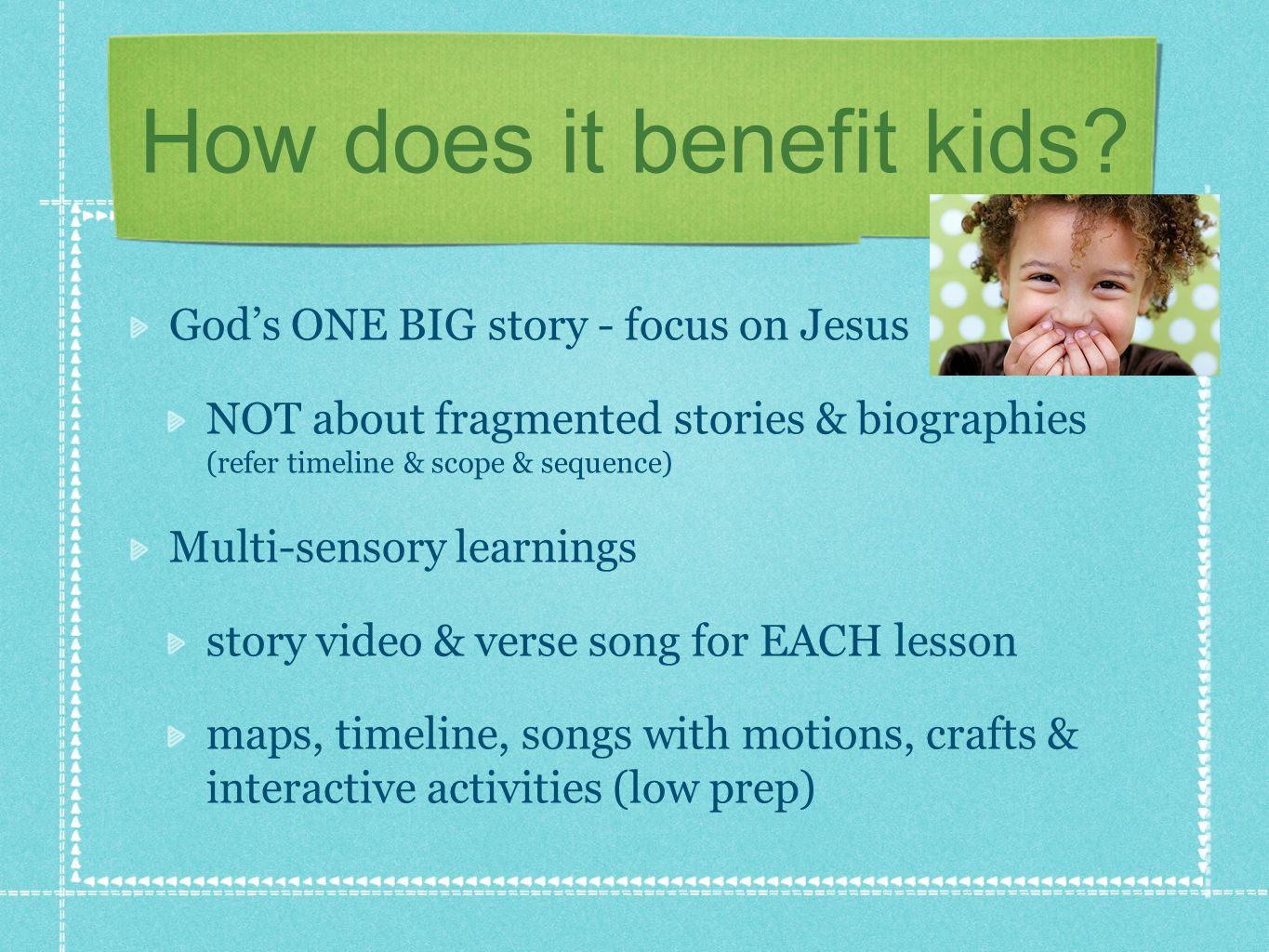 How does it benefit kids