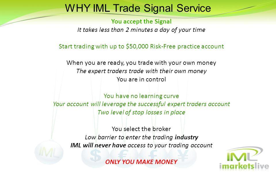 WHY IML Trade Signal Service