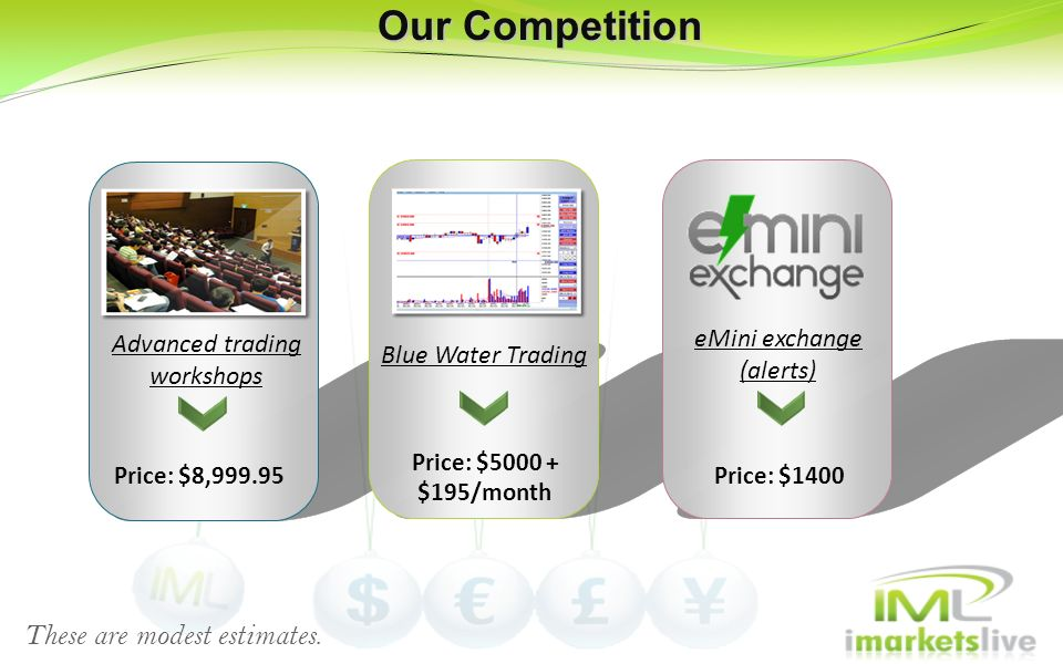 Our Competition These are modest estimates. eMini exchange (alerts)