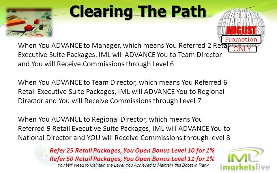 Clearing The Path Promotion.