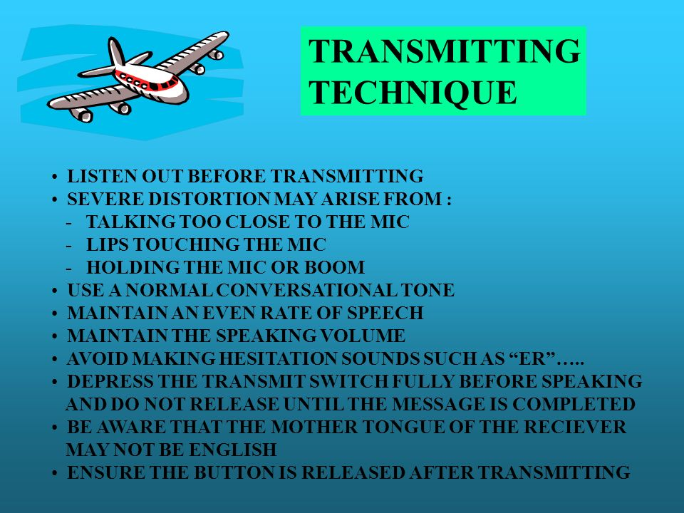 TRANSMITTING TECHNIQUE LISTEN OUT BEFORE TRANSMITTING