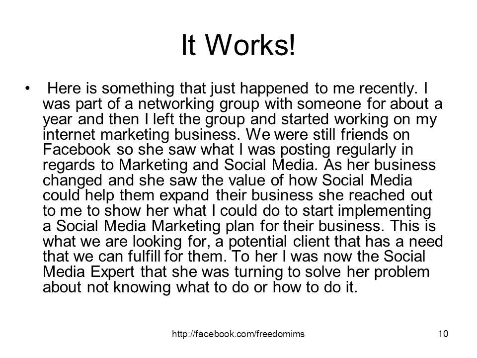 It Works!