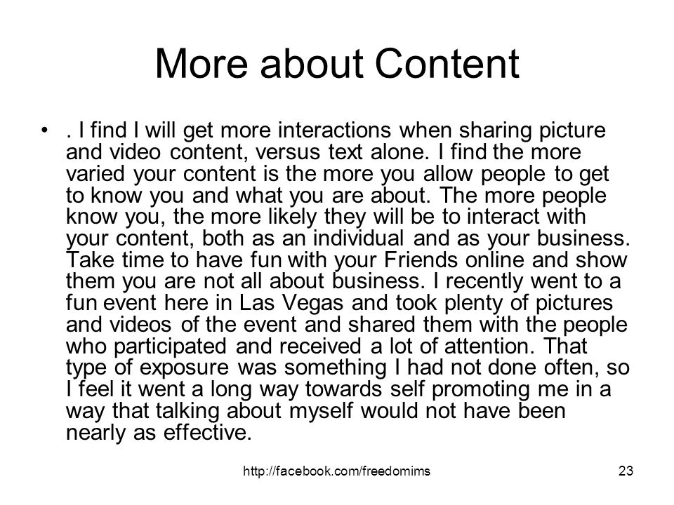 More about Content