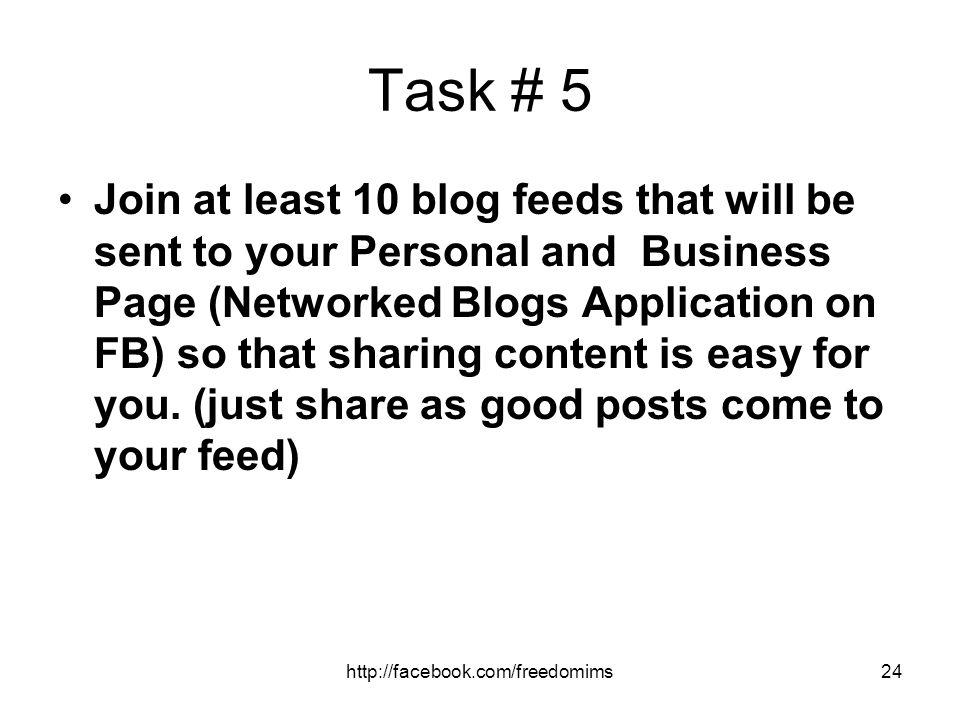Task # 5