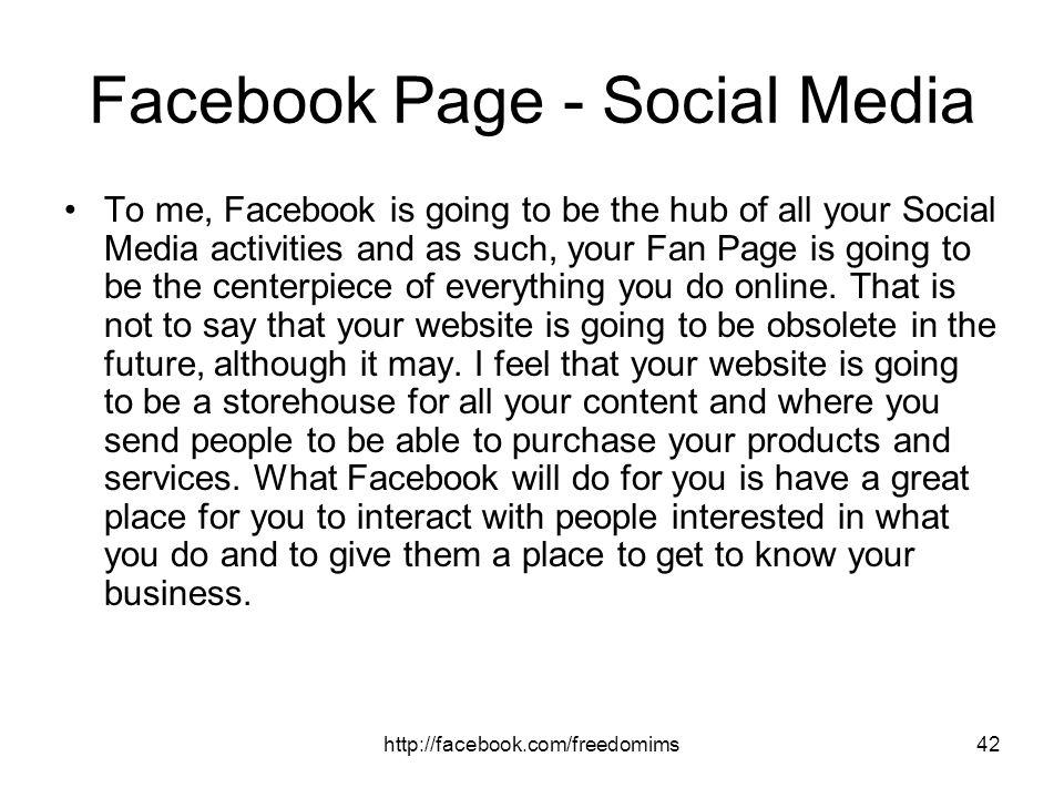 Facebook Page - Social Media