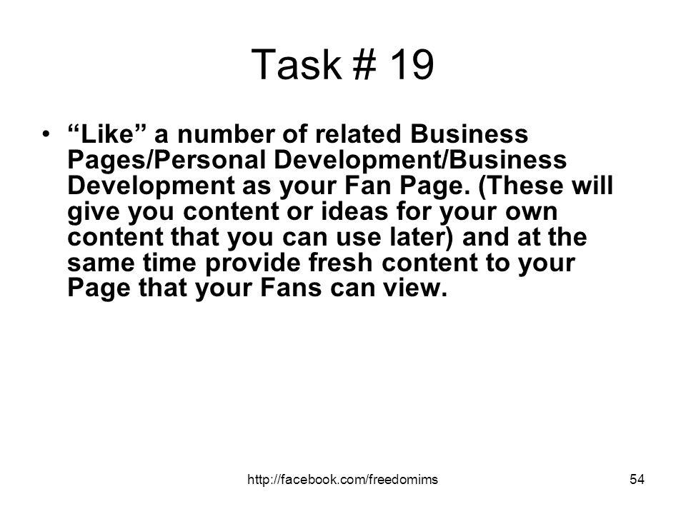 Task # 19