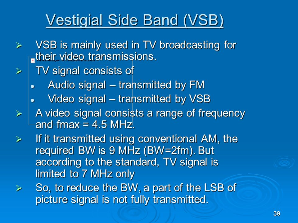 Vestigial Side Band (VSB)