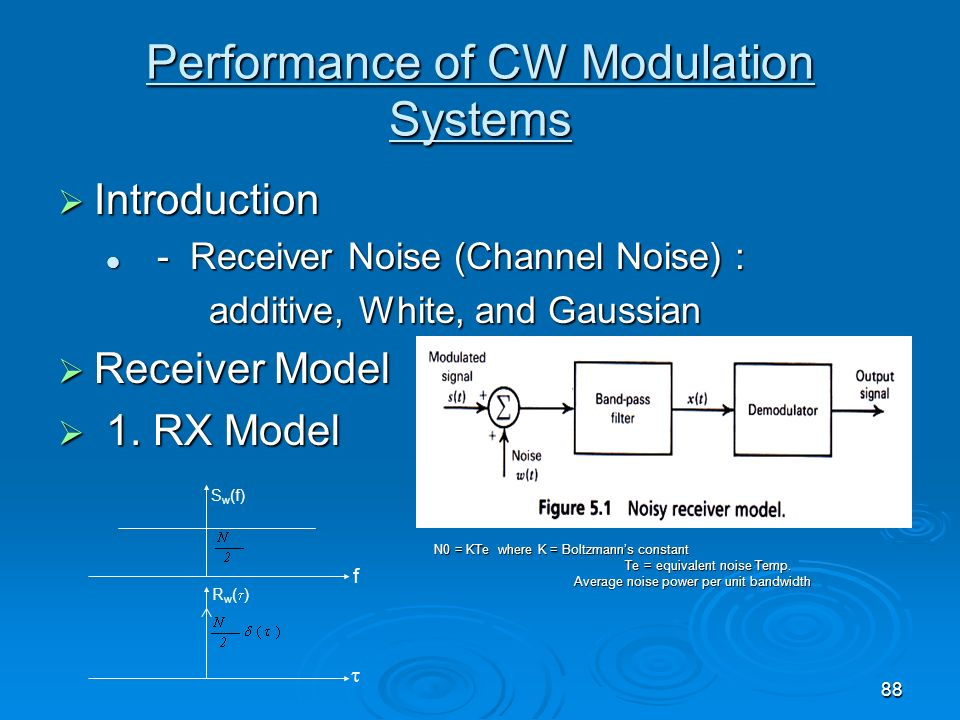 Performance of CW Modulation Systems