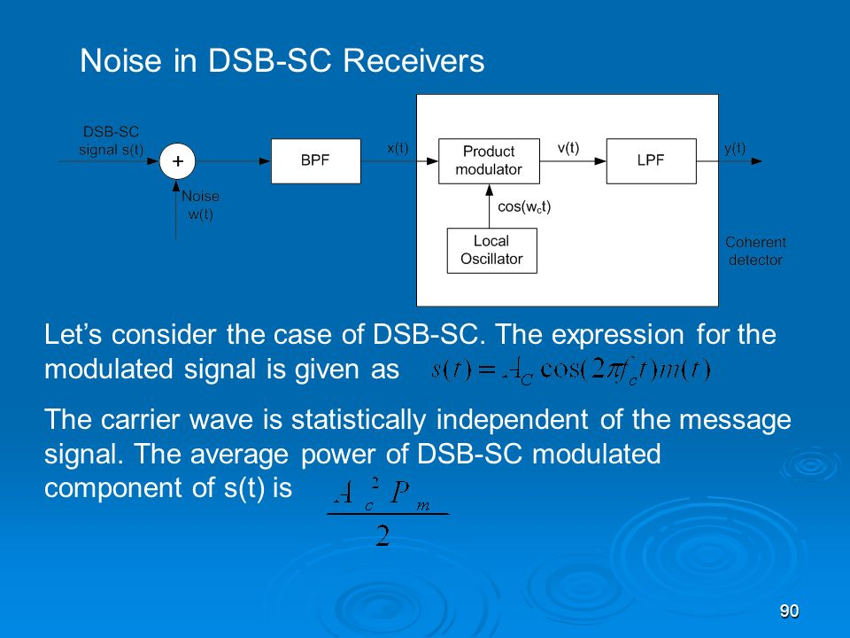 Noise in DSB-SC Receivers
