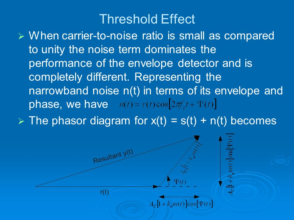 Threshold Effect