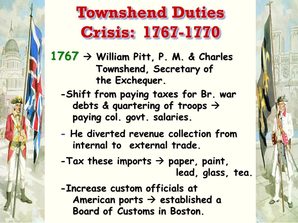 Townshend Duties Crisis: 1767-1770