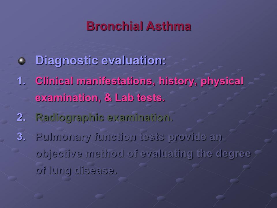 Diagnostic evaluation: