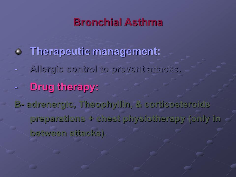 Therapeutic management: