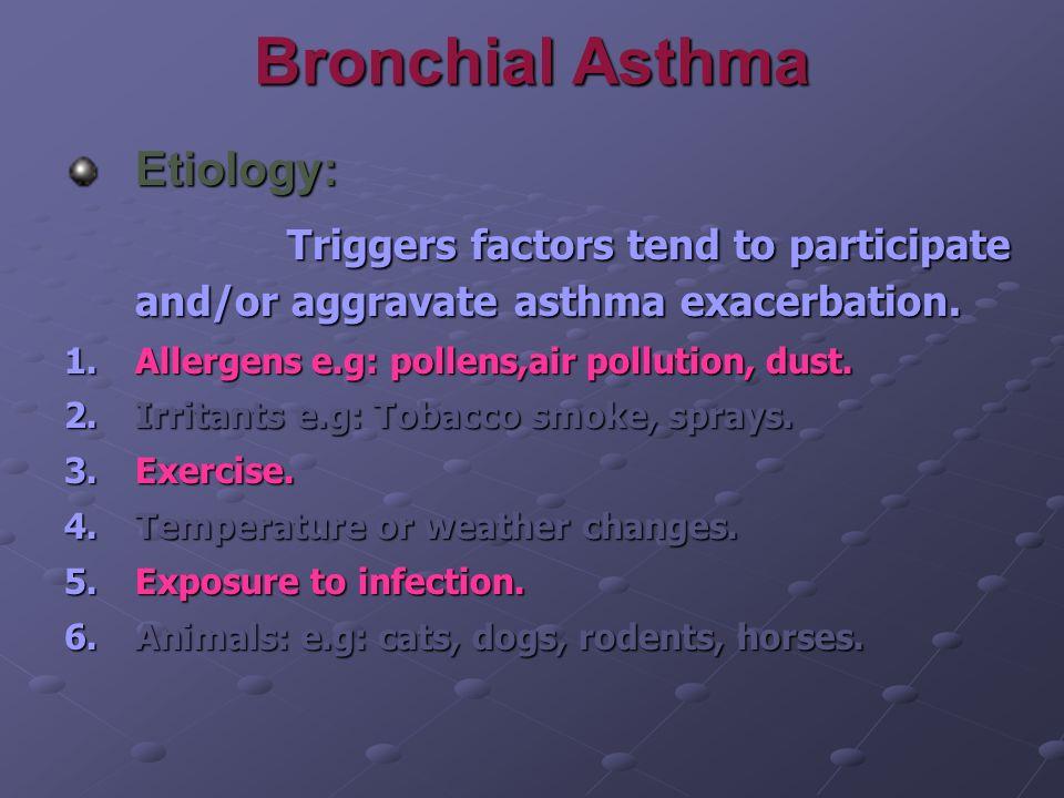 Bronchial Asthma Etiology: