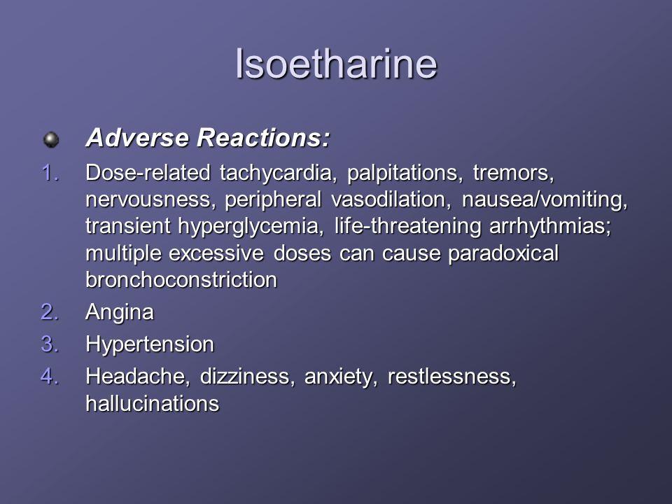 Isoetharine Adverse Reactions: