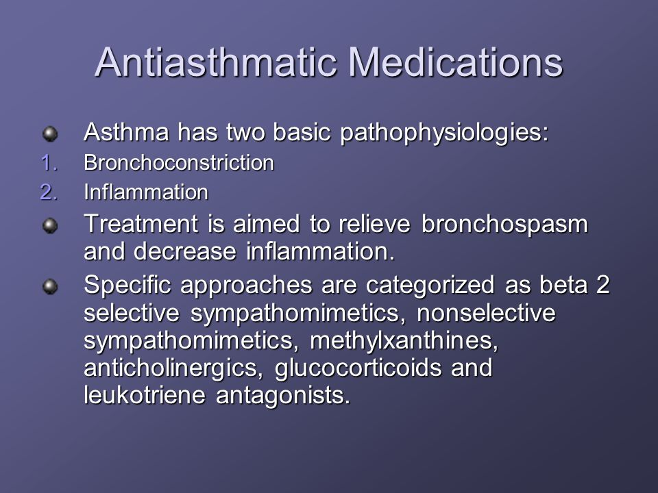 Antiasthmatic Medications