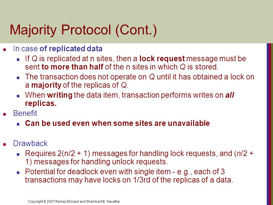 Majority Protocol (Cont.)