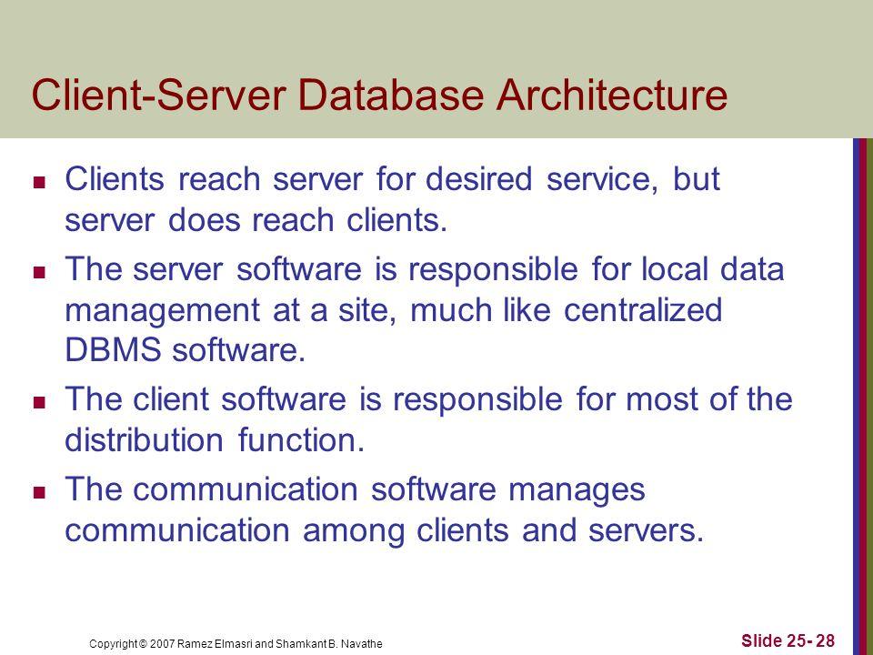 Client-Server Database Architecture