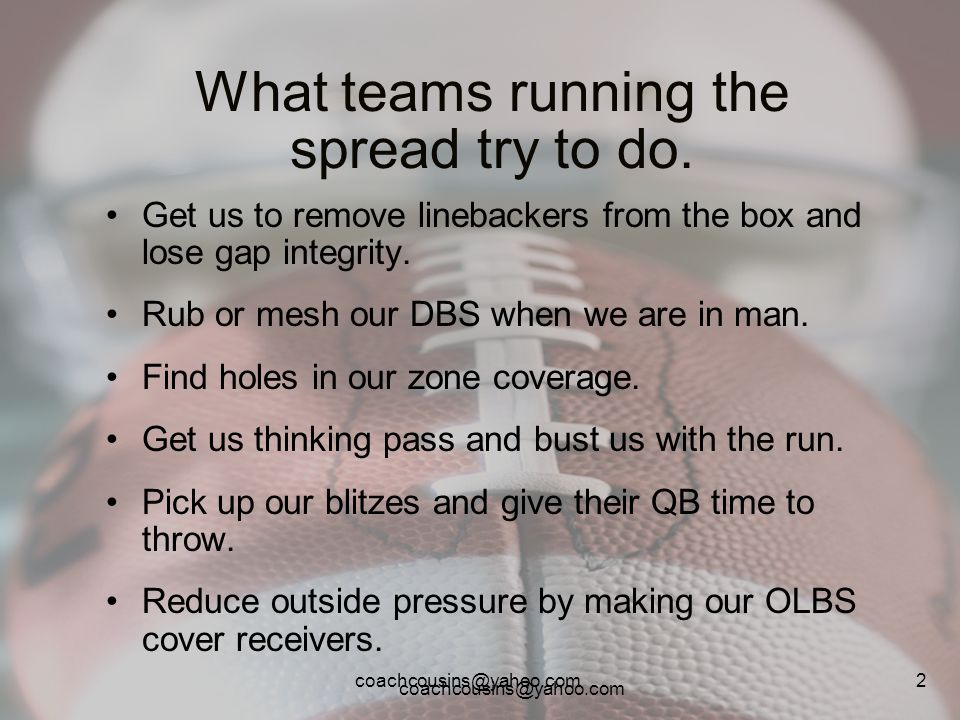 What teams running the spread try to do.