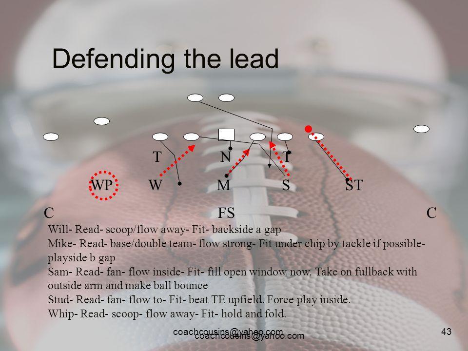 Defending the lead T N T WP W M S ST C FS C
