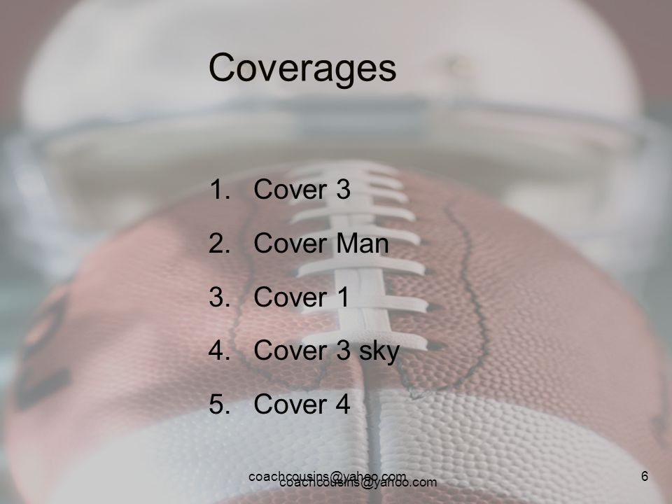 Cover 3 Cover Man Cover 1 Cover 3 sky Cover 4