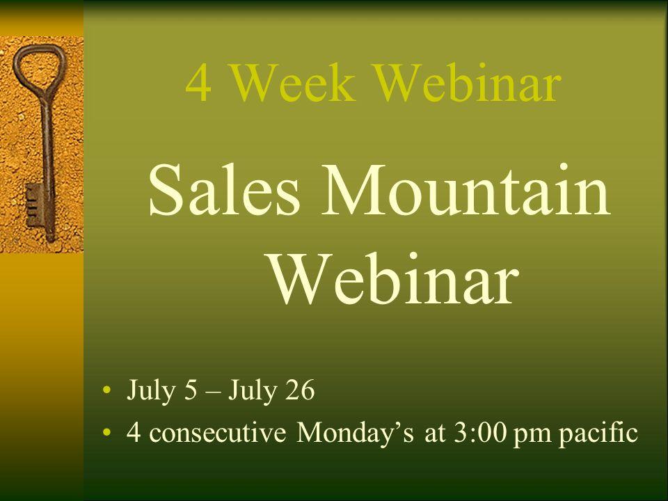 Sales Mountain Webinar