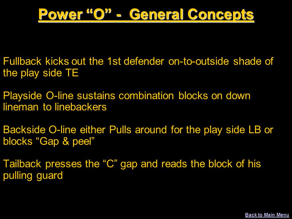 Power O - General Concepts