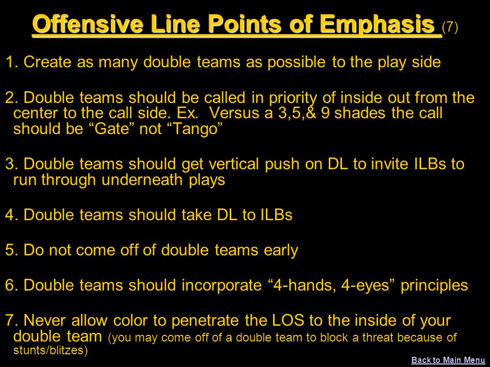 Offensive Line Points of Emphasis (7)