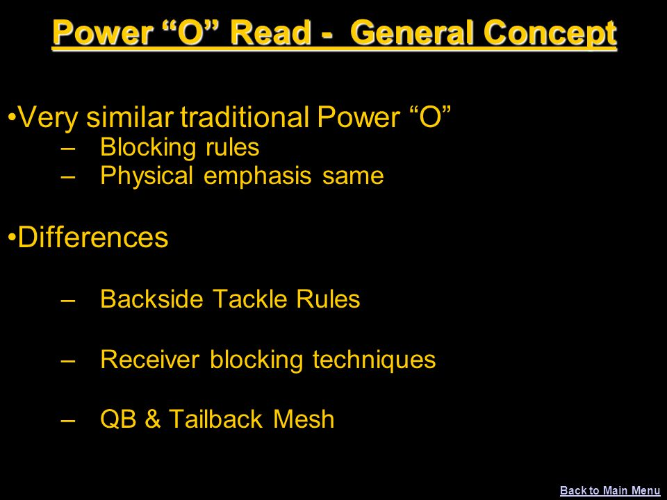 Power O Read - General Concept