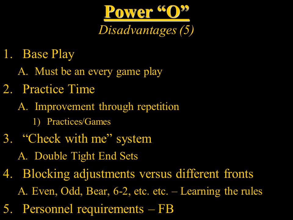 Power O Disadvantages (5)
