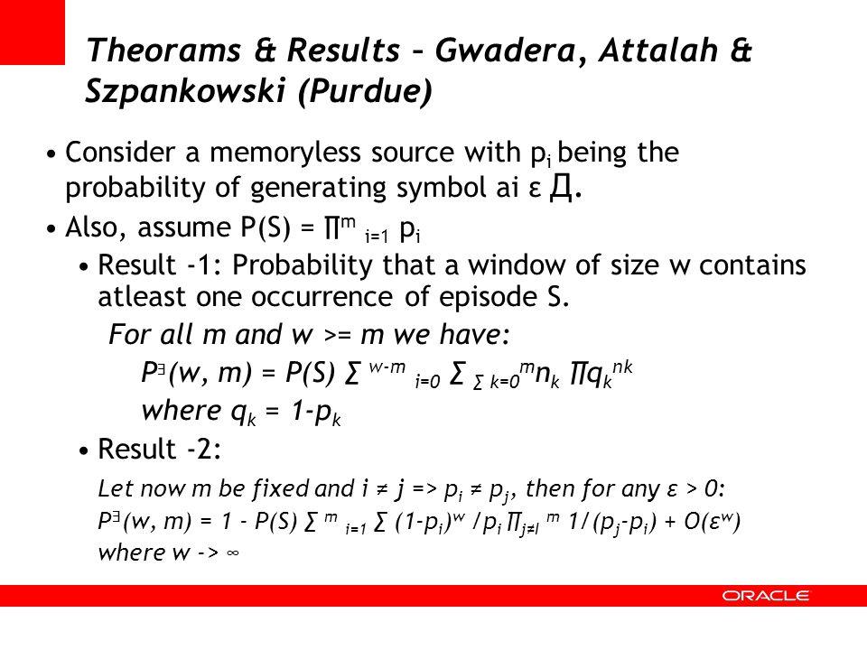Theorams & Results – Gwadera, Attalah & Szpankowski (Purdue)