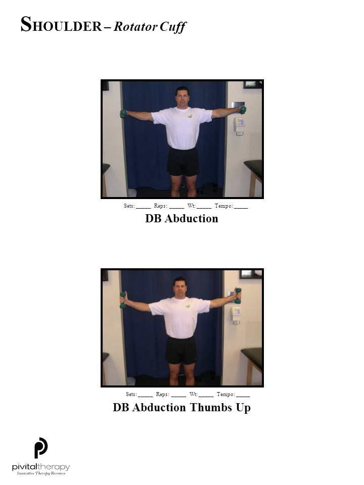 SHOULDER – Rotator Cuff