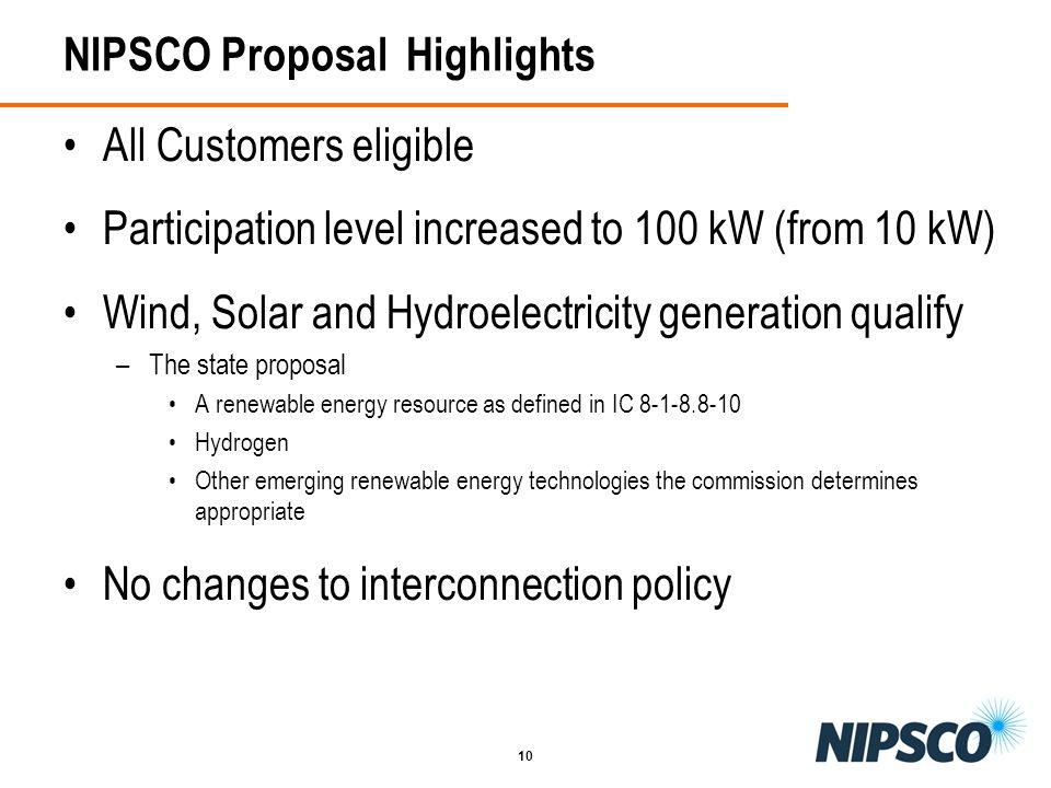 NIPSCO Proposal Highlights